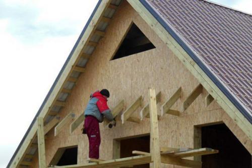 Как увеличить фронтонный свес крыши. Фронтонный свес
