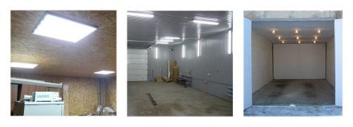 Освещение в гараже схема. Освещение
