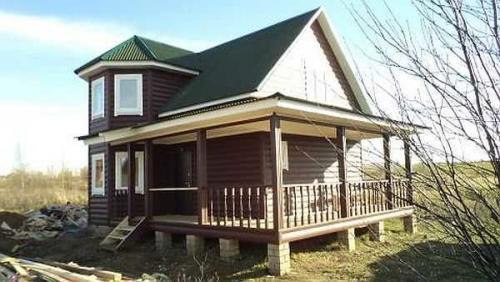 Как пристроить веранду к деревянному дому. Столбчатый и свайный фундамент