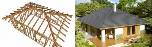 Устройство стропильной системы вальмовой крыши. Разновидности (типы и виды) вальмовой крыши