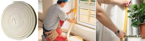Чем лучше заклеить окна на зиму.  Утепление деревянных окон на зиму изнутри