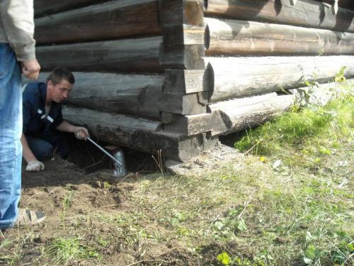 Ремонт деревянного дома своими руками. Реставрация фундамента