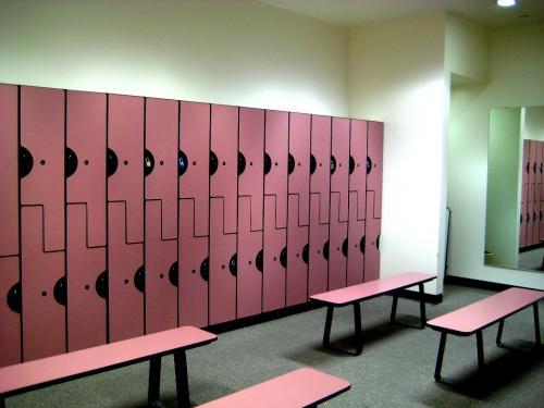 Шкафчик для раздевалки в спортзале со скамьей. Варианты шкафов в раздевалки фитнес клубов, советы по выбору